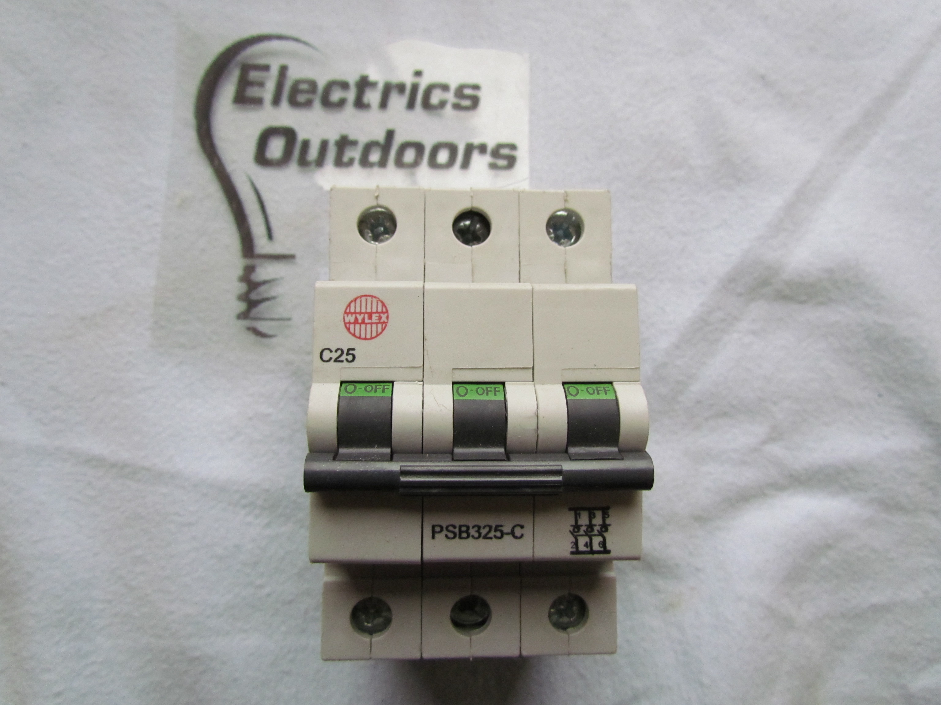NEW WYLEX 25 AMP TYPE C MCB CIRCUIT BREAKER 3 POLE PSB325-C IEC