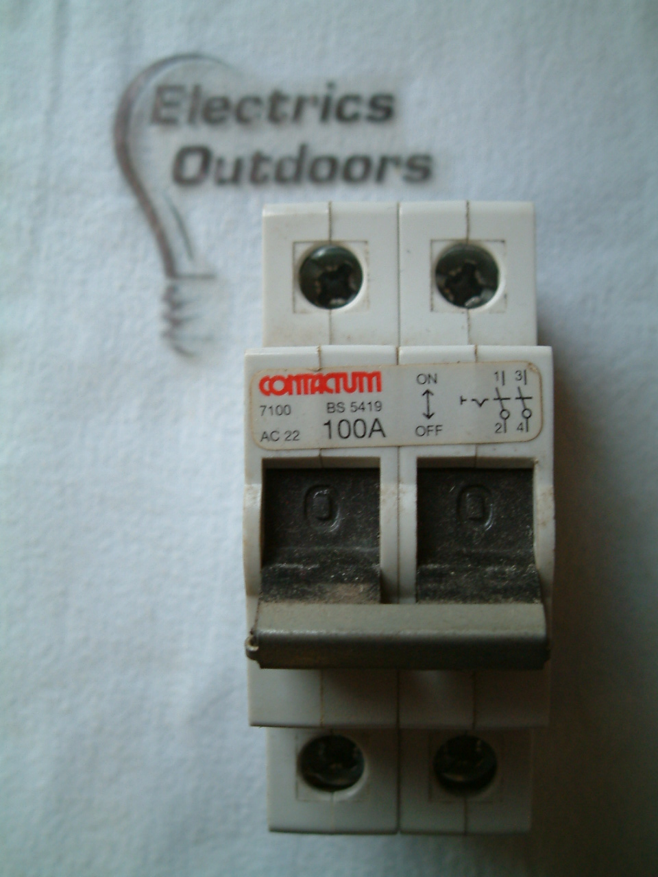 CONTACTUM 100 AMP MAIN SWITCH DISCONNECTOR 7100 BS 5419
